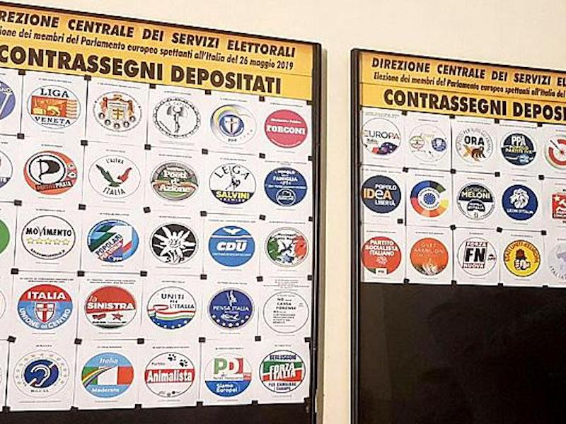 Elezioni europee, 47 i simboli depositati