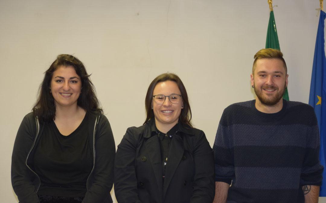 Chiara, Samuele e Annachiara: gli juniores di Zocchi per il consiglio comunale