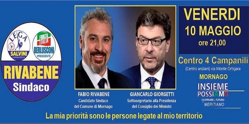 Lega Nord Mornago si presenta, Giancarlo Giorgetti sarà ospite d'onore