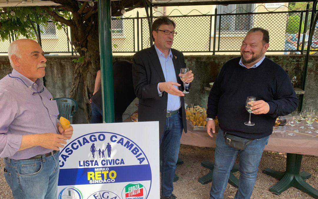 Giancarlo Giorgetti a Morosolo a sostegno di Mirko Reto
