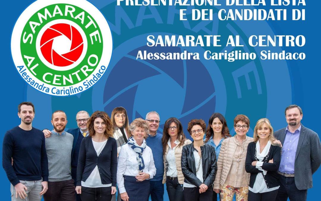 """Presentazione lista """"Samarate al centro"""""""